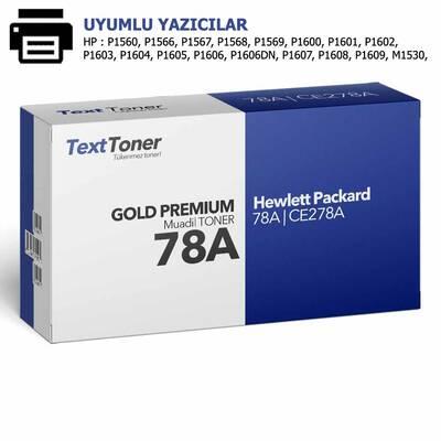 HP 78A   CE278A Muadil Toner, Siyah