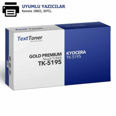 Kyocera TK-5195 Muadil Fotokopi Toneri, Kırmızı